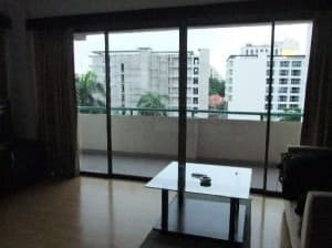 The Pinewood Residences Central Pattaya room and balcony view