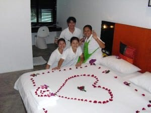 The Yorkshire Hotel Patong deluxe room staff preparing room