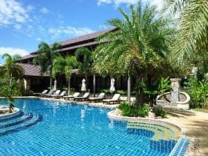 Am Samui Palace Hotel swimming pool view