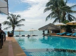 Samui Jasmine Resort Lamai pool beachfront location