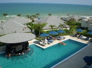 Samui Resotel & Spa view of the pool and chaweng beach from the room
