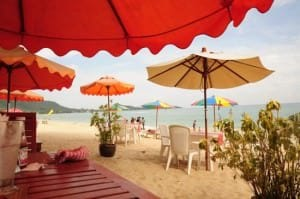 Samui Sense Beach Resort Lamai beachfront view
