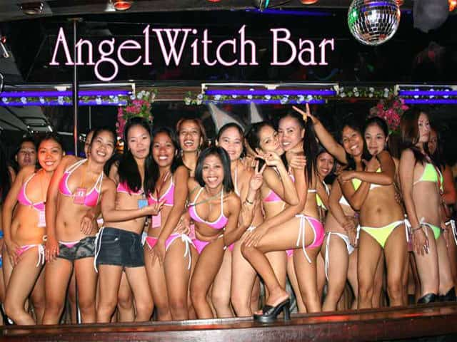 Bar Girls from Angel Witch Bar in Angeles city in the Philippines