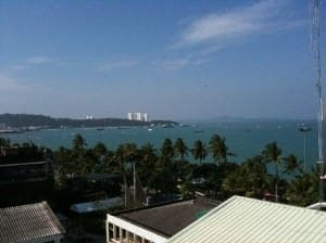 Flipper Lodge Pattaya Rooftop Pool view