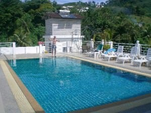 Asialoop Guest House rooftop pool Patong Phuket