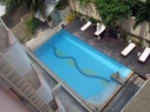 Bella Villa Metro Hotel View of Pool from balcony Pattaya