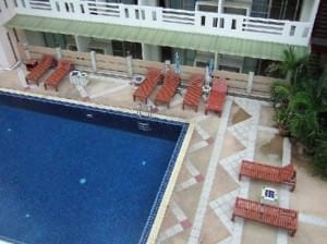 Eastiny Place Hotel Pattaya Beach Road pool from room view