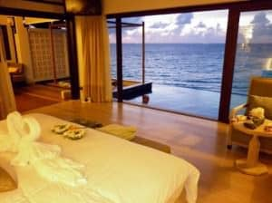The Shore at Katathani Resort Kata Phuket bedroom with sea view