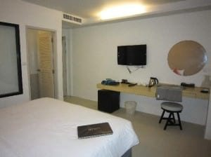 Acca Patong room seen from bed