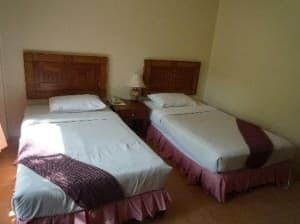 Baan Karon Resort beds in twin room