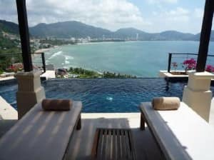 IndoChine Resort and Villas Patong view from the infinity pool